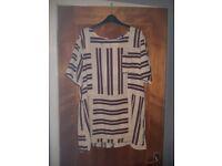 Beige stripe tunic