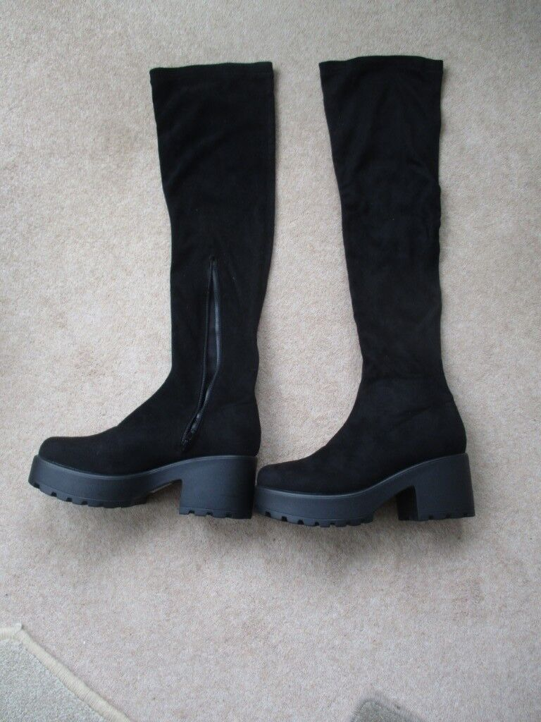 af1f26fe2f00 Koi Couture Ladies Black Over Knee Boots Size 5