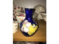 Vintage Moorcroft small blue vase