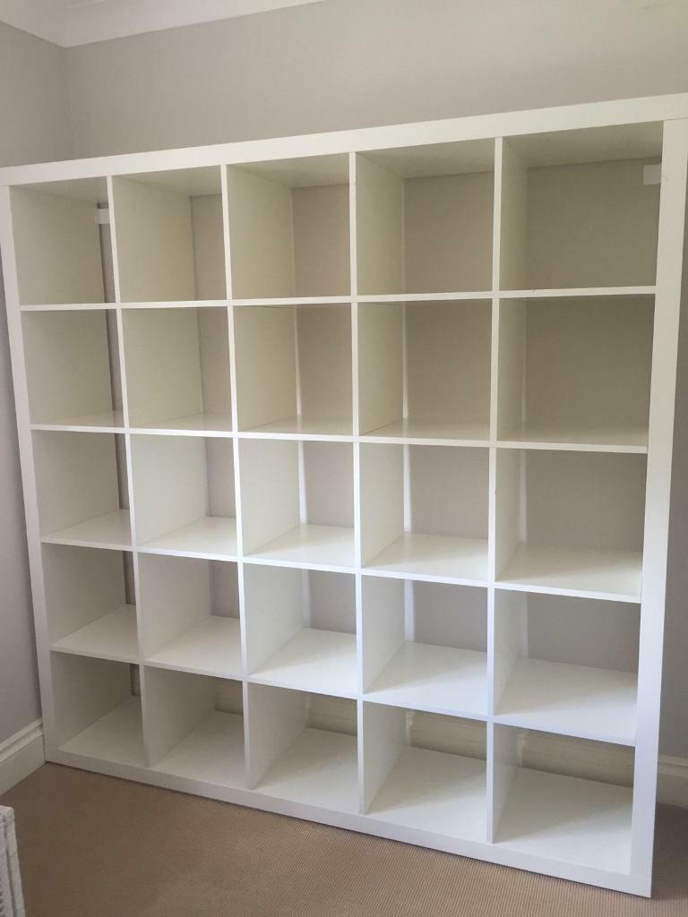 ikea expedit kallax bookcase shelving unit bargain 5x5 good condition white in manor house. Black Bedroom Furniture Sets. Home Design Ideas