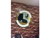 new porthole style mirror with tortoise shell effect