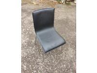 4 x dining chairs black metal legs