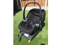 Mamas and papas car seat with ISO FIX base