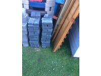 110 50mm charcoal pavers