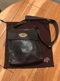 Mulberry Anthony Messenger chocolate natural leather bag