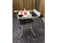 Bosch GTS10J2 + GTA 600 240v 10in Portable Table Saw with Stand used once for one morning