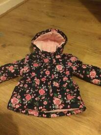 Baby girl coats 9-12 and 12-18 months