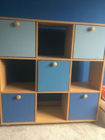 Child bookcase, shelving and storage