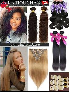 100% HUMAN HAIR weft weave & CLIP IN Hair Volumater Extension