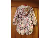 Lovely floral raincoat jacket age 2 years
