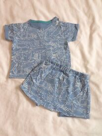 Mothercare: Blue Shorts and T.shirt (Baby Boy).