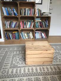 9 x Wooden crates vintage rustic