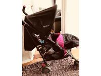 Pop butterfly silver cross stroller