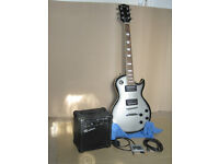 Rockburn Les Paul Style Electric Guitar, Amplifier, Cable and Tuner
