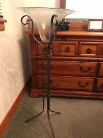 Ornate glass / metal stand