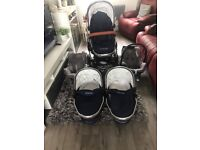 Icandy peach twin/double pram