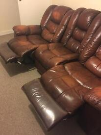 Real leather sofas