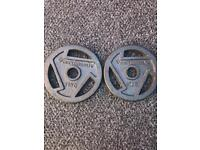 2X10KG MAXIMUSCLE OLYMPIC WEIGHT PLATES