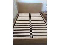 Light Pine Wooden John Lewis Double Bed + Optional Mattress
