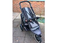 Phil and Teds double buggy sport package black
