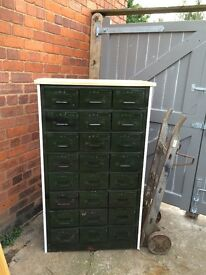 **REDUCED**Vintage bespoke metal draw unit