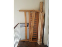 Wood King Size Bed **FREE** pickup from Limehouse E14