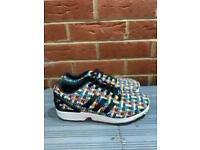 Adidas ZX flux multicolor rainbow woven with reflective