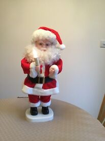 Aminated electric Father Christmas for sale. nice quality. 2 ft tall