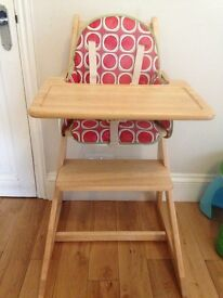 East Coast A-Frame Wooden High Chair