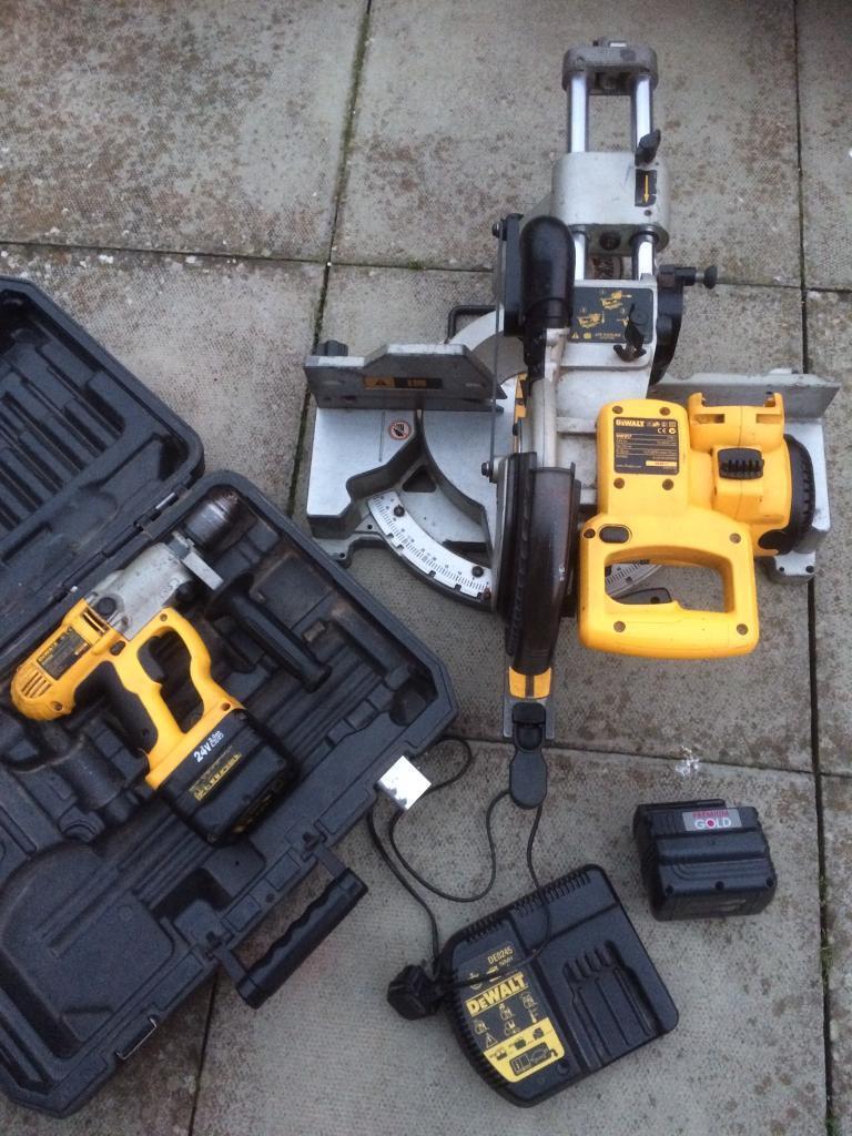 dewalt 24v mitre saw and drill in blaydon on tyne tyne and wear
