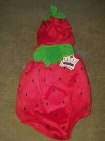 Strawberry cute Halloween baby dress up new with tags very cute