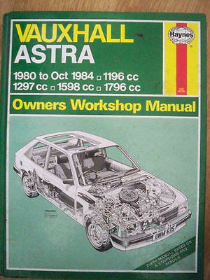 Vauxhall Astra Haynes Manual 1980-1984