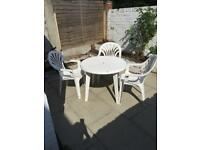 Garden table and 3 chairs