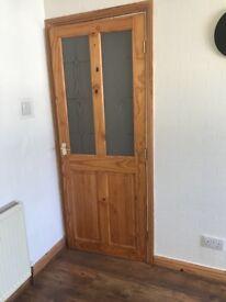 2 pine doors