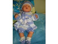 NEW HAND KNIT CLOTHES TO FIT BABY BORN 16 INCH VEST SHORTS COAT BOOTEES HAT