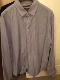 Criminal blue and white shirt