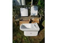 New Kale white ceramic close coupled toilet set rrp £300