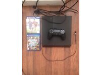 PS4 + 1 CONTROLLER + HDMI CABLE + 2 GAMES , BEST CONDITION , NO OFFER