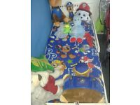 Toddler bed,guard and duvets set