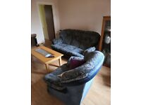 Sofa and arm chair and coffee table