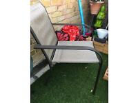 2 stackable Garden chairs !!