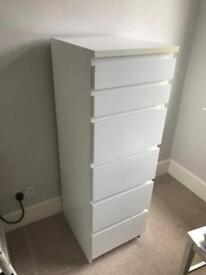 6 Tall Chest of Draws with Mirror