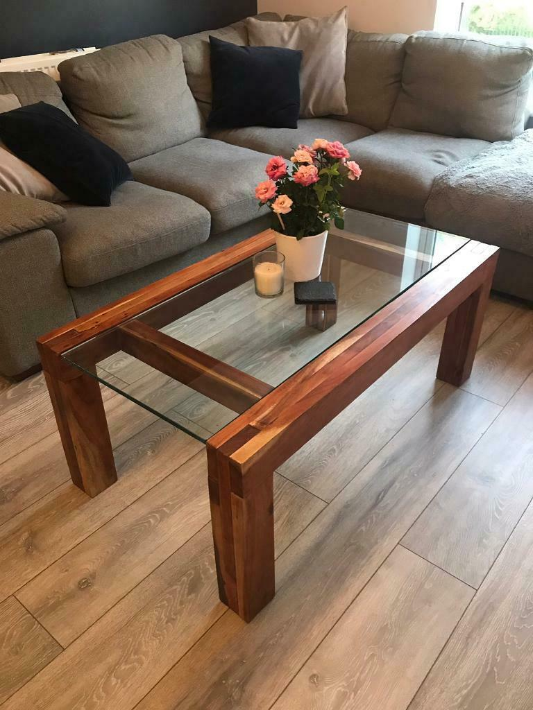 Solid Wood and glass coffee table | in Mansfield ...