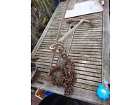 Large old Boat Anchor (HEAVY) with old rusty chain