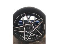 WOLFRACE EUROSPORT NITEWORK 4 STUD 15x7j 4x108/4x100 ALLOY WHEELS VW LUPO FORD FIESTA SAXO NOVA