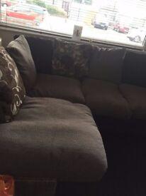 Fabric Corner Sofa - £350