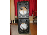 Pair of speaker cabinets