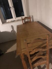 Country Pine Table and Chairs