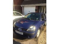 Renault Clio 03 / 1.2 petrol / Blue / Great first time car