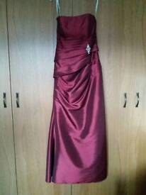 Mark Lesley burgundy bridesmaid/evening gown/prom dress